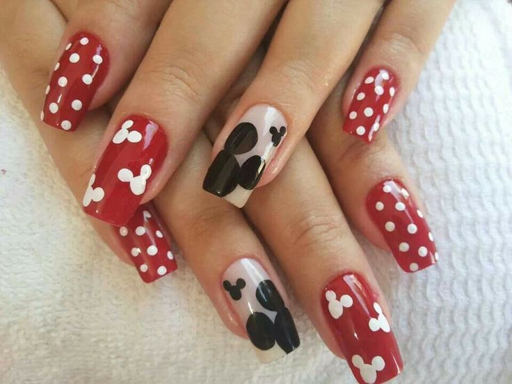 Mickey Mouse Nails Art Image Collections Easy Nail Designs For