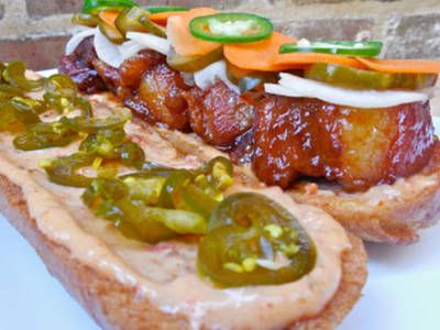The BEST Caramel Glazed Pork Belly Banh Mi
