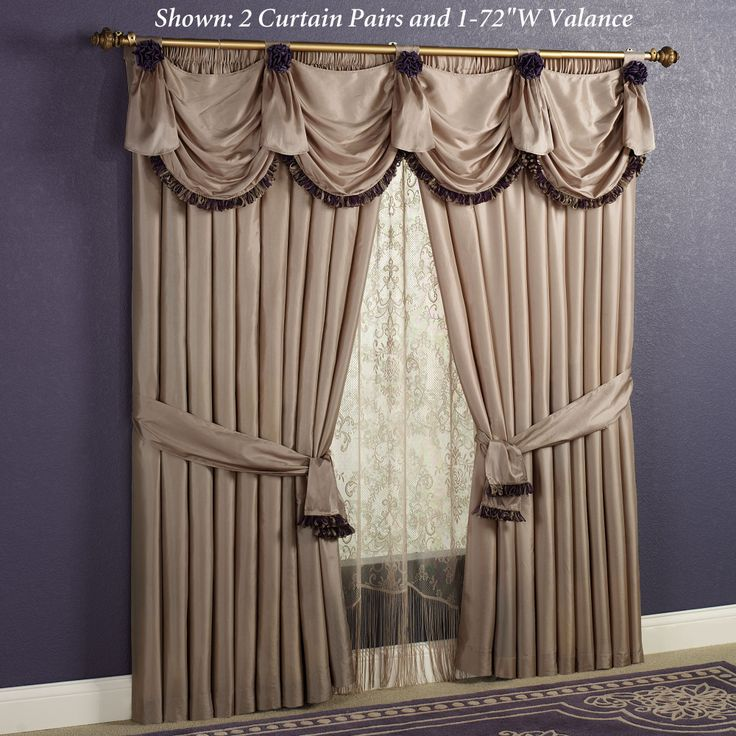Regal Elegance panels and valance | Window Treatments | Pinterest