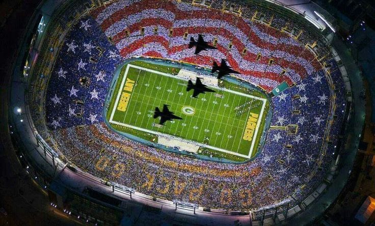 The Packers and 'merica!