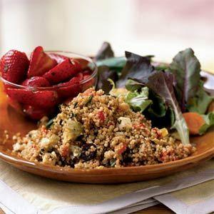 Bell Pepper and Fresh Mozzarella Couscous | Recipe