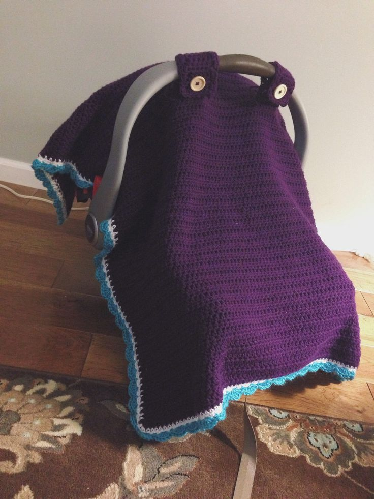 Free Knitting Pattern For Baby Car Seat Blanket : Car Seat Canopy Crochet Pattern