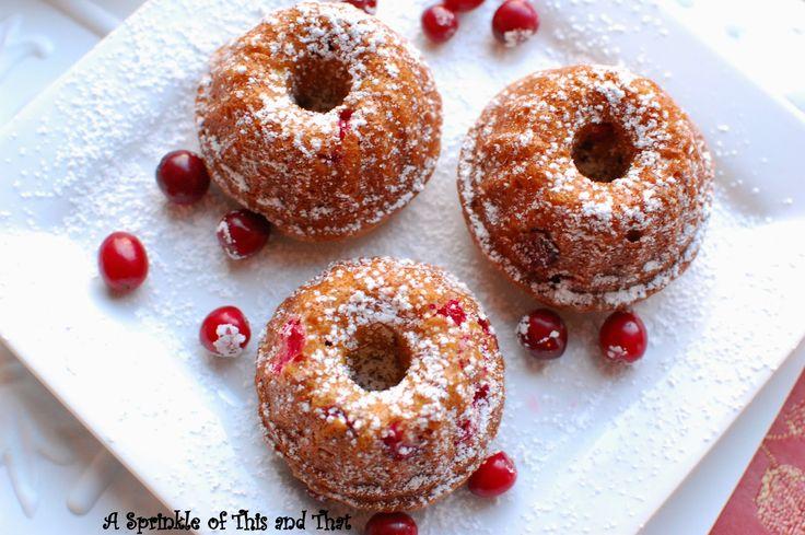 Mini Cranberry Bundt Cakes