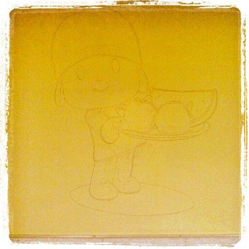 boceto a lu00e1piz sobre pared : murales en comedor infantil. : Pinterest