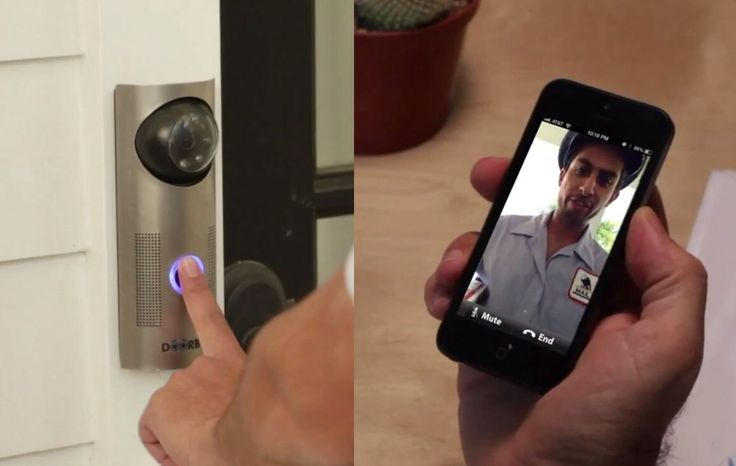 DoorBot has a camera and microphone, and you can see who is at the