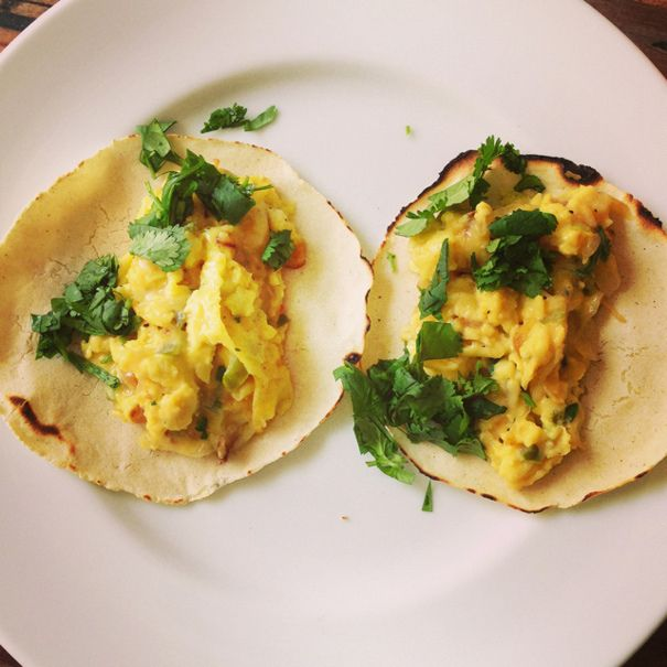 Eggs Adam Roberts in Homemade Corn Tortillas