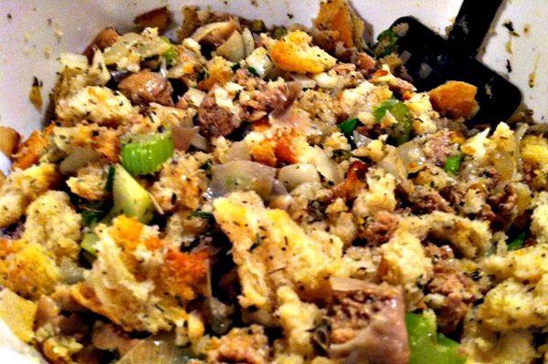 thanksgiving recipes | Turkey sausage and herb stuffing recipe