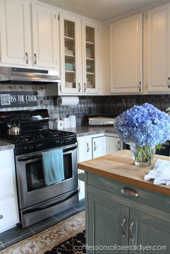 Kitchen makeover on a budget favorite places spaces for Kitchen cabinets on a budget