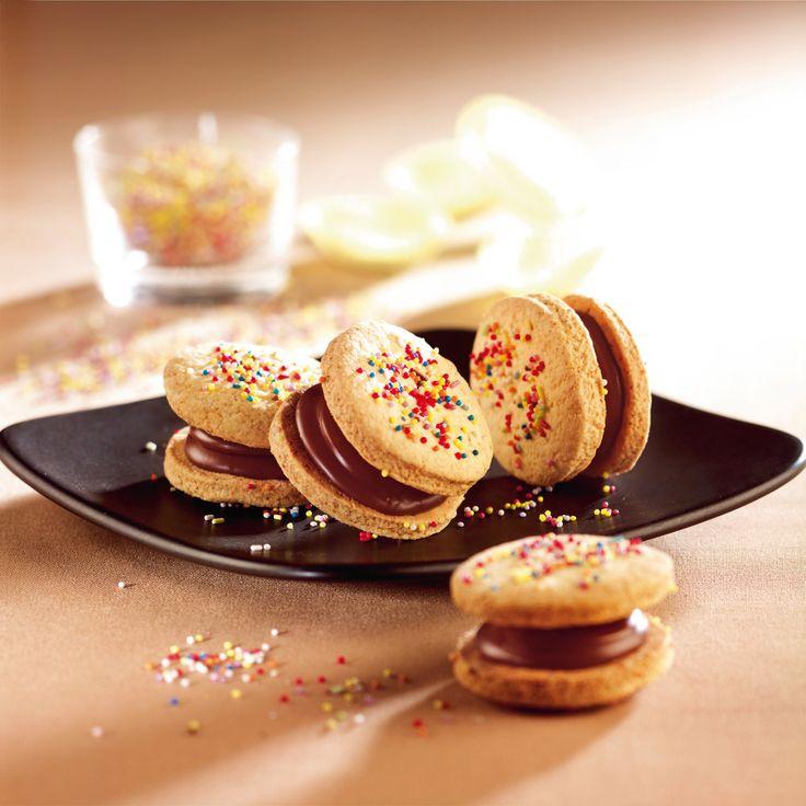 Chocolate Hazelnut Sandwich Cookies Recipe - Baking Beauty #recipe # ...