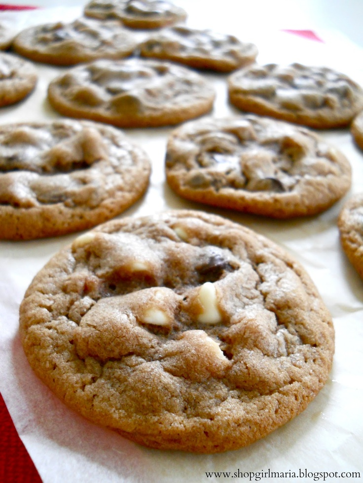 Hot Chocolate Cookies- no white chocolate for me though