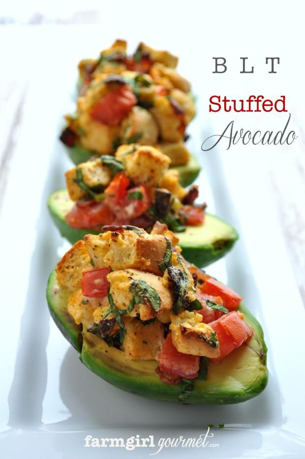 BLT Stuffed Avocado looks outrageously tasty for Phase 3. Use sprouted ...