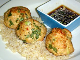 ... Perfection: Asian Style Turkey Meatballs & Lime Sesame Dipping Sauce