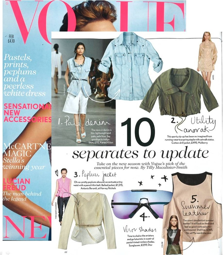 Blush leather tank in Vogue UK