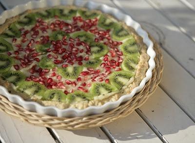 Pomegranates and Kiwi Cake | kiwi | Pinterest