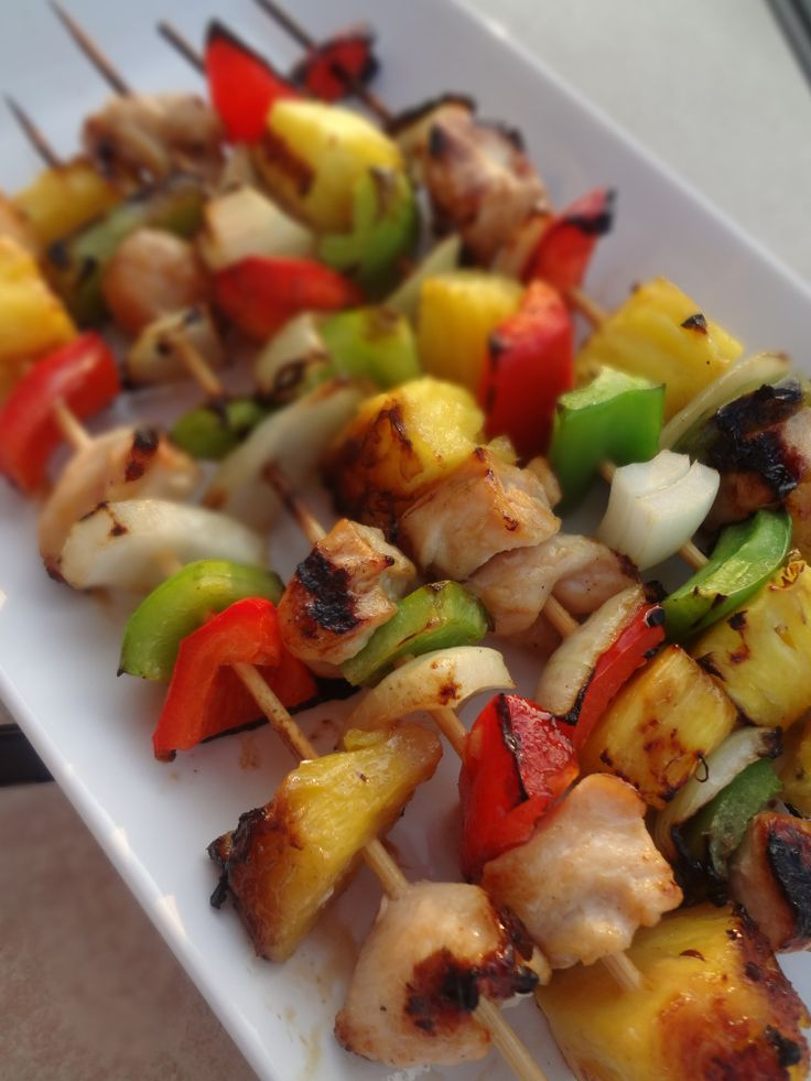 Grilled Honey Chicken Kabobs | Things I have made from Pinterest | Pi ...