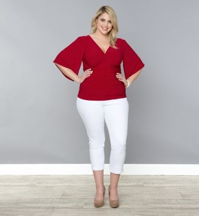 Plus Size Style: Red and White outfits