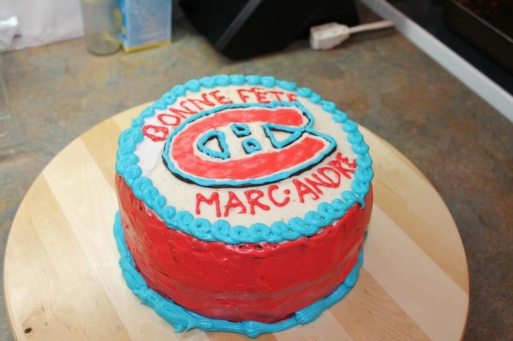 Gâteau des Canadiens de Montréal!  Gâteaux avec thèmes ...
