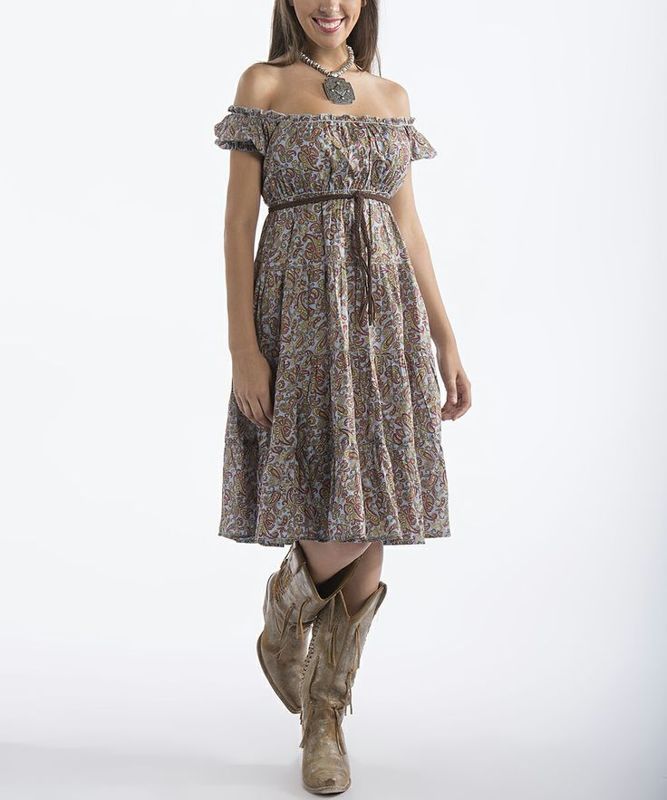 Brown Peasant Dress - Women | zulily