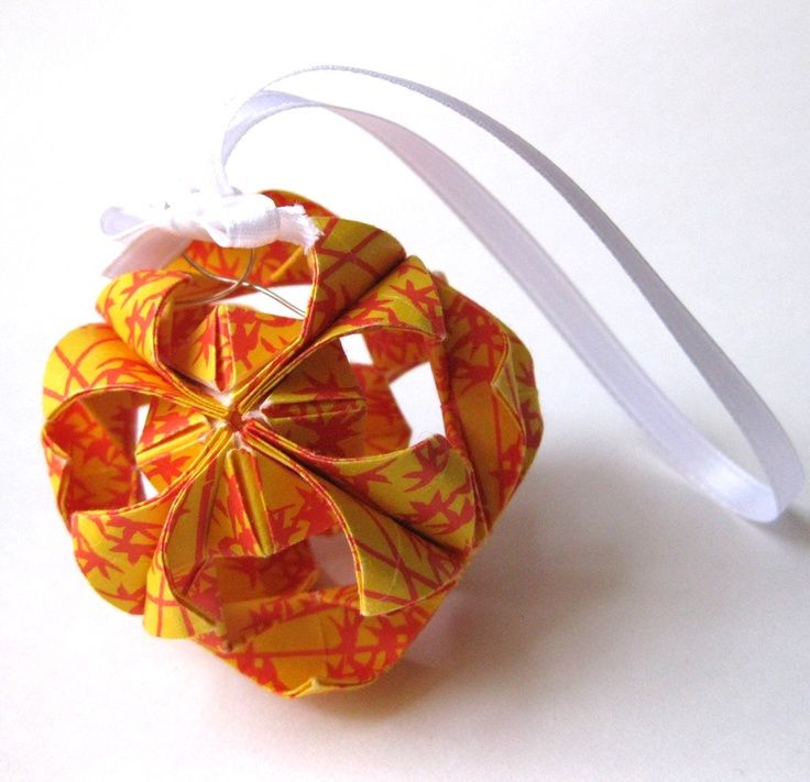 Origami christmas ornament paper to make pinterest