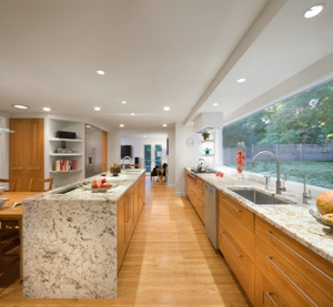 Alphana Cream Granite will paneled ends and a pop up TV! Amazing!