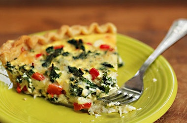Kale and Feta Quiche | Yummy Food | Pinterest
