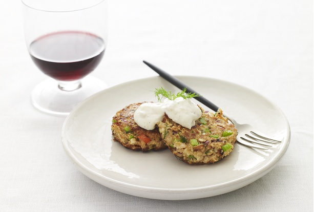 Passover gefillte fish patties, this one is rather fancy, I just slice ...