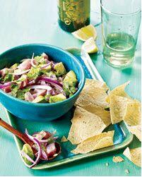 Tuna Ceviche with Avocado and Cilantro | Pescetarian Yum | Pinterest