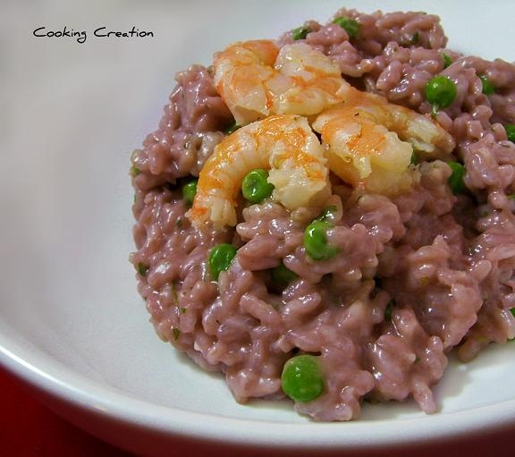 Red Wine Risotto with Peas and Shrimp | Swimming in the SEA meals | P ...