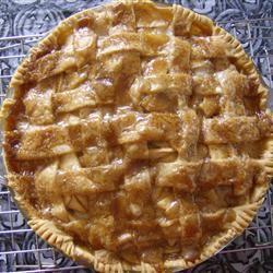 Apple Pie by Grandma Ople (allrecipes.com) Dark brown sugar is key. So ...