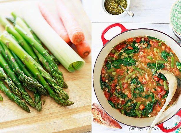 Spring vegetable minestrone soup. | Soup | Pinterest