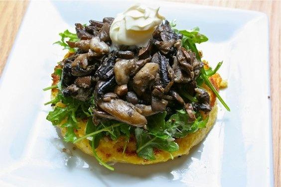 Warm Mushroom Salad with Crispy Polenta | Recipe