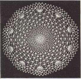 Vintage Spider Web Doily