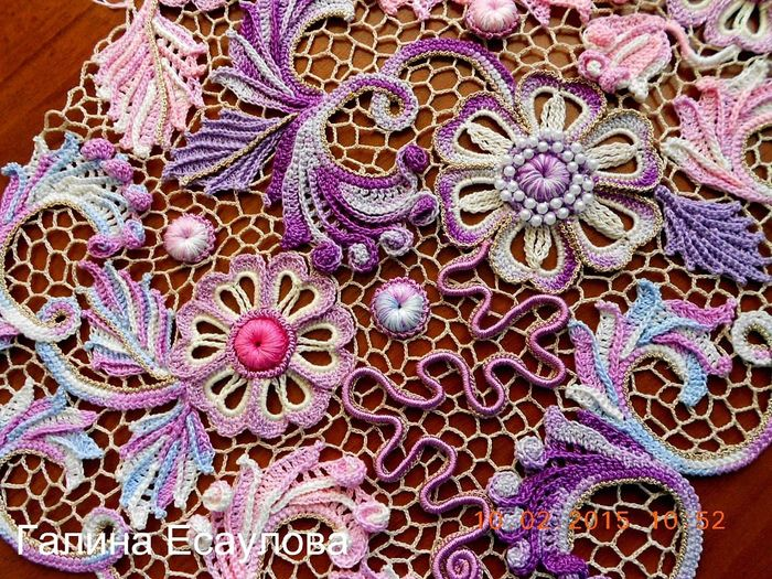 Мастер класс вязания цветов из ирландского кружева 169