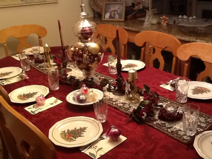 table decor ideas christmas pinterest