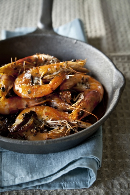 spicy pan roasted shrimp | [savory] | Pinterest
