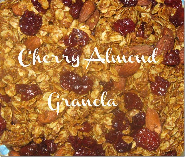 Homemade Crunchy Cherry Almond Granola | Eco-friendly Emily