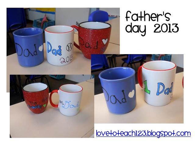 homemade fathers day mugs