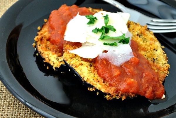 Low-Fat Eggplant Parmesan - will replace the breadcrumbs with ground ...