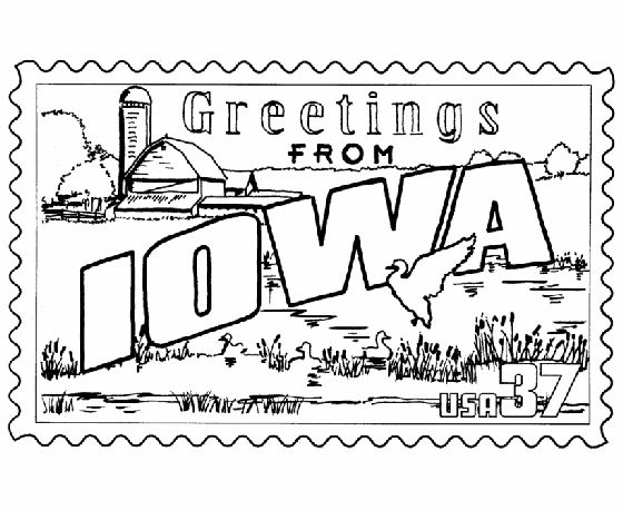 iowa coloring pages - photo#6