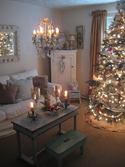 Shabby chic christmas christmas pinterest for Shabby chic christmas