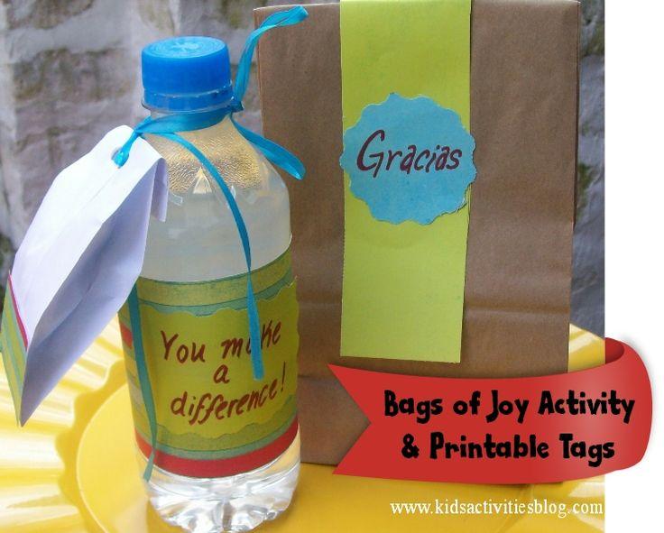 Bags of joy - teaching kids to be kind