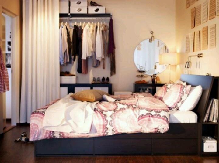Bedroom With Open Closet Apartment Ideas Pinterest