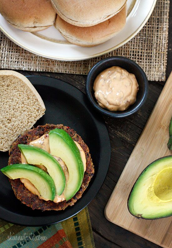 Spicy Black Bean Burgers with Chipotle Mayonnaise...delicious! Husband ...