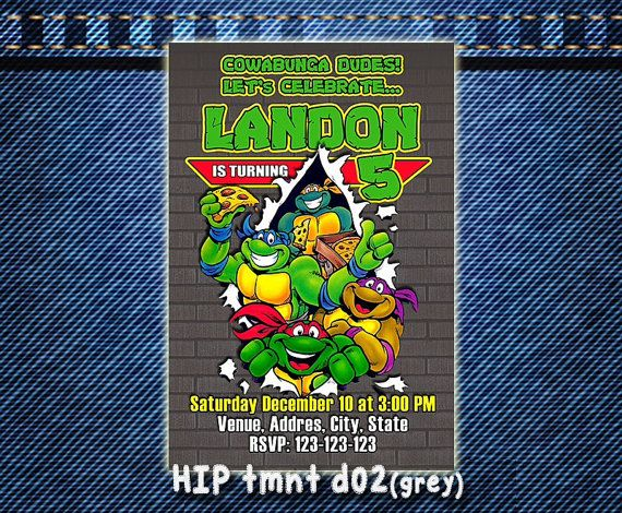 Ninja Turtle Personalized Invitations was amazing invitations template