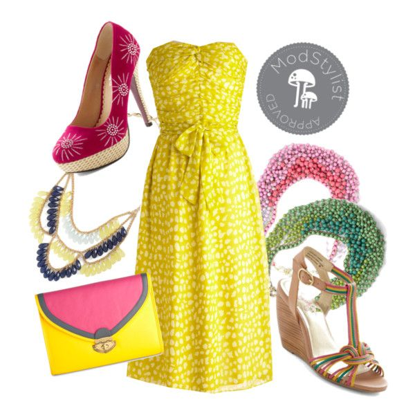 What a lovely, colorful summer look based around the Life Gives You Lemongrass Dress!
