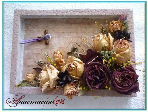Поделки из сухих роз