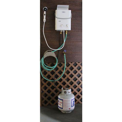 Hook up propane heater