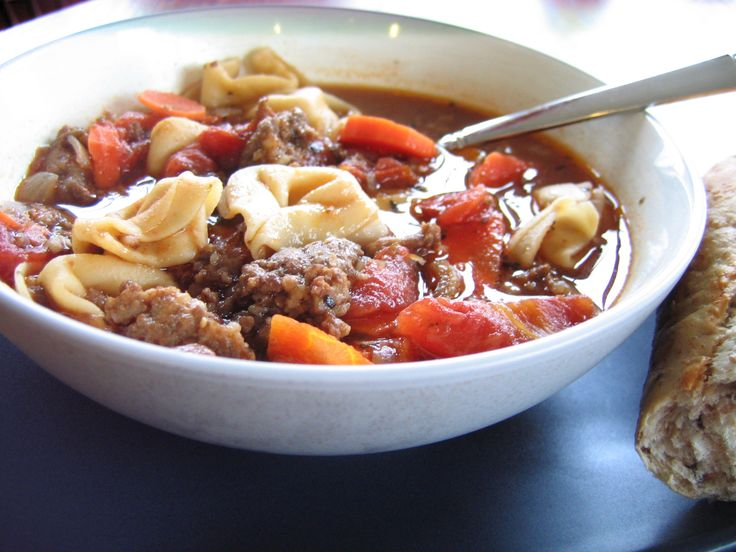 Italian Sausage and Tortellini Soup - made with spicy sausage and ...