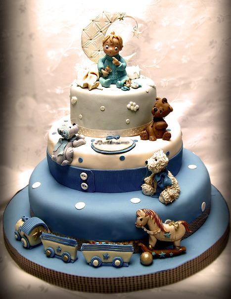 Cake Design For Little Boy : Little Angel Baby Boy Cake Baby Lanier!!!! Pinterest