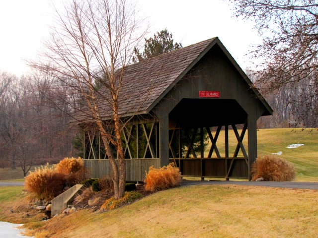 Small covered bridge design bing images for Covered bridge design plans